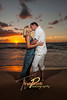 Steven and Natalie Sunset : Maui wedding and romantic beach photography from Maui professional photographer Trade Winds Photography